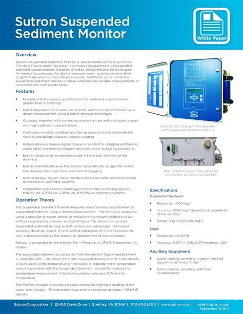 Strainer Jamur sutron suspended sediment monitor