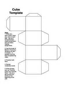 Cube Outline Pdf by Cube Template Sle Free