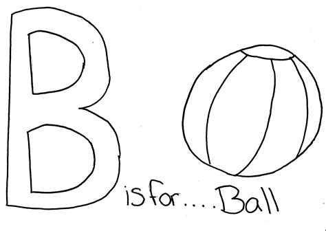 Free Coloring Pages Of Letter B For Ball Letter B Coloring Page