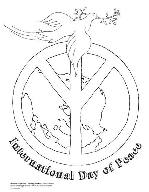 peace doodle coloring pages