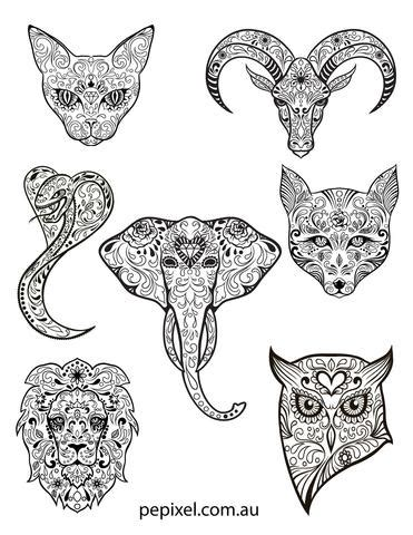 day of the dead animal coloring pages animal sugar skulls day of the dead halloween coloring