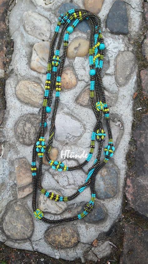 1 Set Kalung Gelang Unik High Quality 1 looooooong necklace to match my caterpillar bracelet designed and made by ht 252 nde beaddict