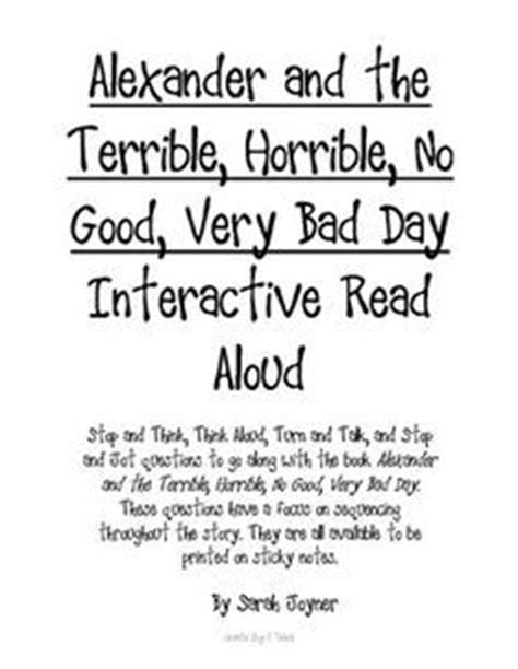 Terrible Horrible No Good Very Bad Day Quotes. QuotesGram