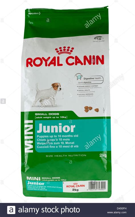 royal canin mini puppy 2 kg bag of royal canin mini junior puppy food stock photo royalty free image