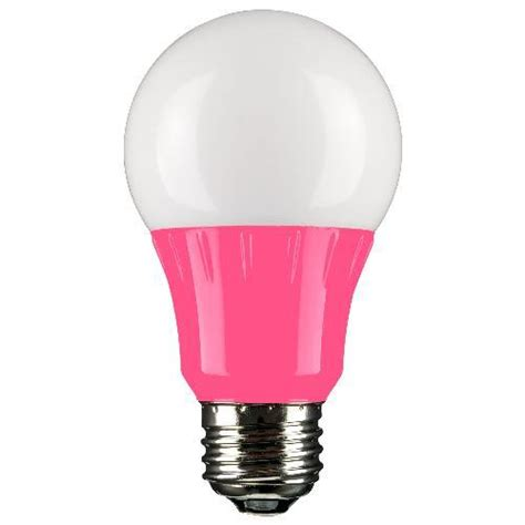 Pink Light Fixtures Pink Led A19 120 Volt E26 Medium Base Light Bulb Not Dimmable For Use In Locations