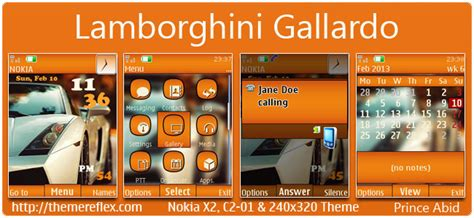 themes nokia x2 01 by princeabid lamborghini gallardo theme for nokia x2 00 c2 01 x2 05