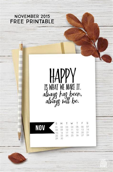printable calendar 2015 quotes november 2015 calendar printable live laugh rowe