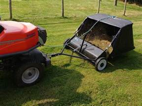 tips on how to up grass clippings using lawn sweeper