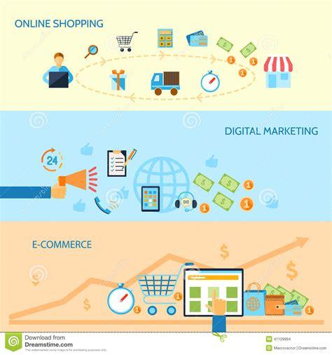 shopping e commerce banner stock vector image 41129994