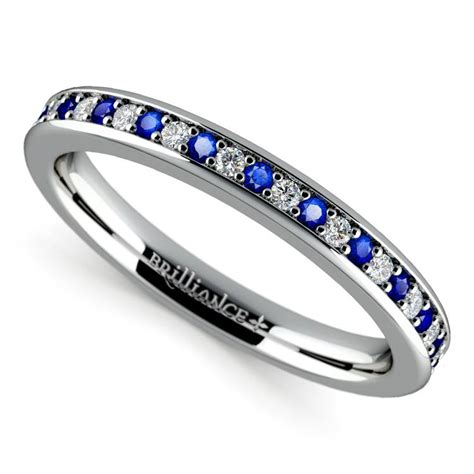 pave sapphire ring pave sapphire wedding ring in white gold