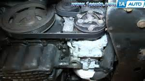 how to install replace power steering belt 2 7l chrysler