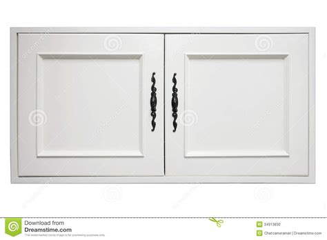 Plain White Kitchen Cabinets wooden door of cupboard stock photo image 34913830