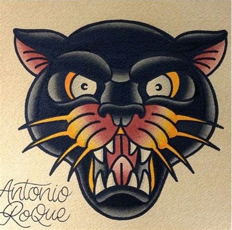traditional panther tattoo antonio roque kysa ink panther s tigers