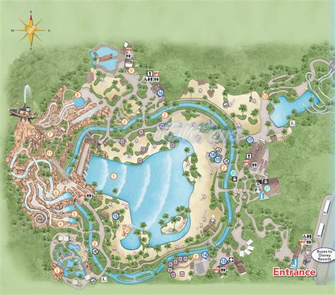 typhoon lagoon map typhoon lagoon water park at disney world info and park map