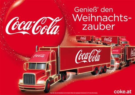 Machbet Coklat der coca cola weihnachtstruck besucht seekirchen