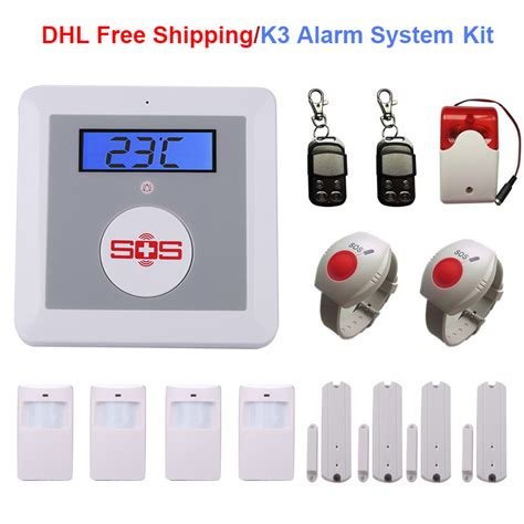 gsm home alarm system sos call elderly care alarm home