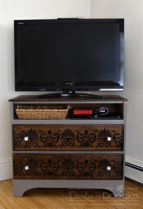 dresser repurposed redesigned into tv stand diy