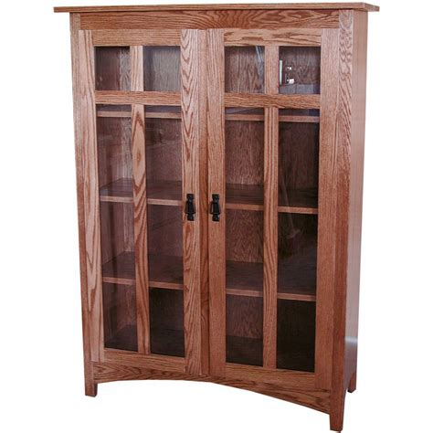 mission bookcase amish crafted furniture
