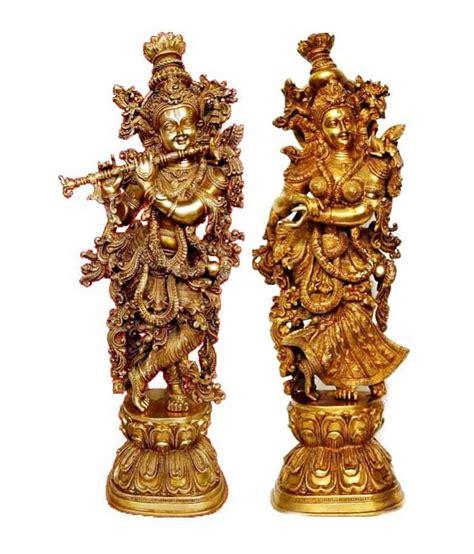 Handmade Handicrafts - metal brass handmade handicrafts lord radha krishna statue