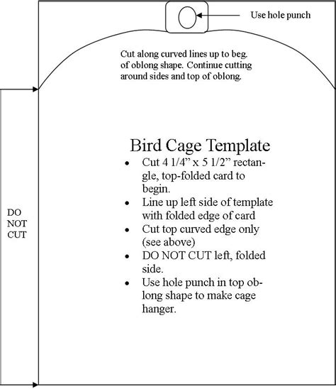 birdcage card template tickell expressions template bird cage card