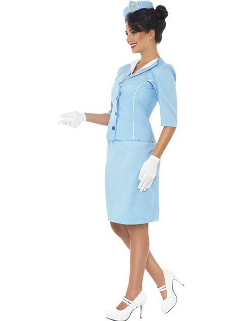 blue air hostess costume 22117 fancy dress