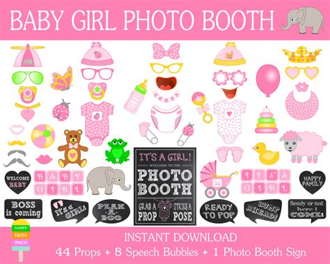 printable baby shower photo booth propsphoto booth