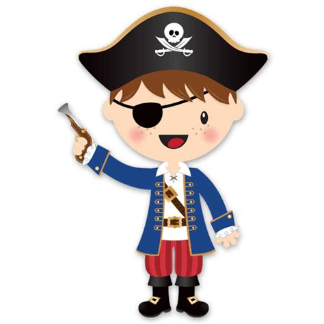 Surf Wall Mural stickers for kids the little pirate gun