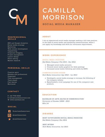 Resume Template Canva by Customize 925 Resume Templates Canva
