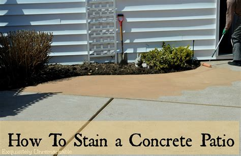 How To Stain Patio Concrete by How To Stain A Concrete Patio Exquisitely Unremarkable