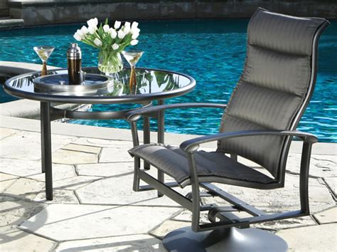 ovation padded sling outdoor patio furniture tropitone