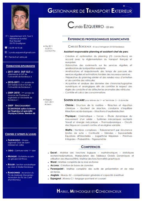 Création De Cv by Resume Format Forme De Cv En Anglais