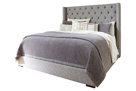 ashley furniture upholstered bed sorinella queen upholstered bed ashley furniture homestore