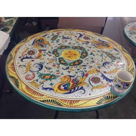 tavoli ceramica deruta tavolo rotondo in ceramica stile ricco deruta bordo