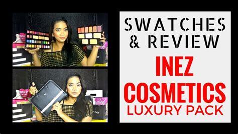 Review Eyeshadow Inez Coklat inez pallet cosmetics luxury pack review swatches judith