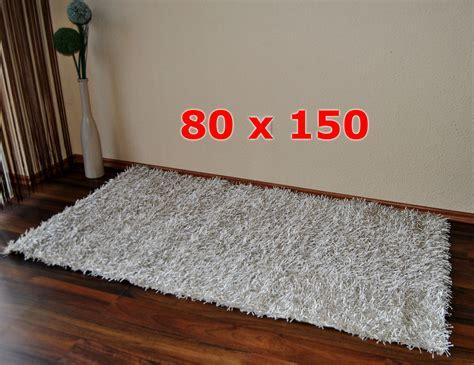 teppich 60 x 150 langflor shaggy teppich 80 x 150 cm beige braun oder grau