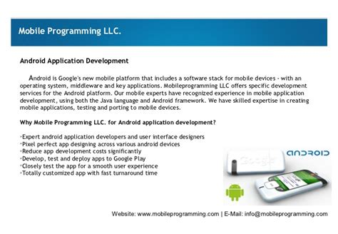 mobile programming mobile programming services