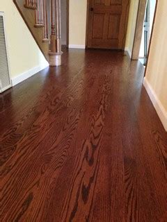 red oak  red mahogany stain