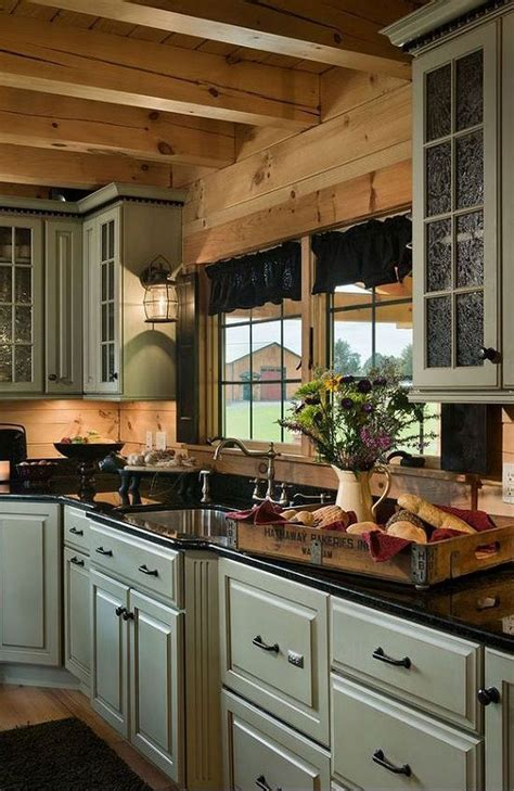 log cabin kitchen ideas best 25 log cabin kitchens ideas on pinterest cabin
