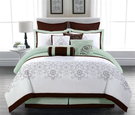 10 piece queen comforter set 10 piece queen odelina embroidered comforter set ebay