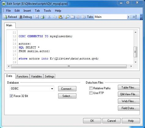 qlikview tutorial qvw qlikview database connection