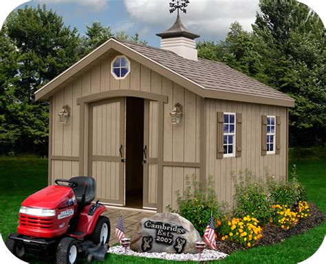 cambridge  backyard wood storage shed kit