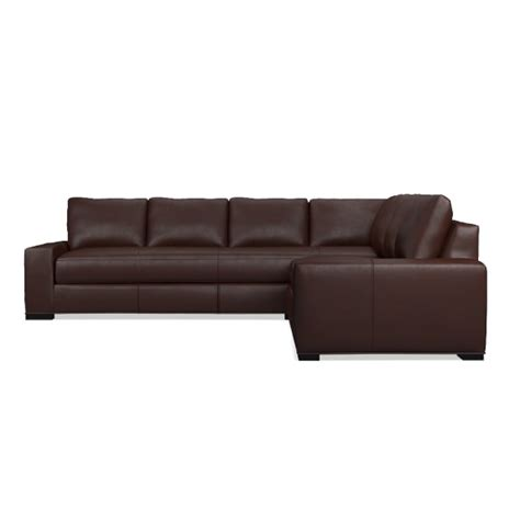 L Shaped Leather Sofas Robertson 2 L Shaped Leather Sofa Sectional Right Williams Sonoma