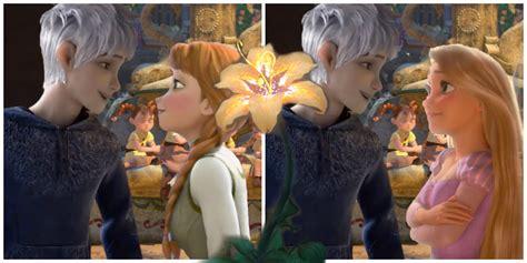 imagenes de jack y rapunzel jack frost rapunzel ft anna elsa flower for a