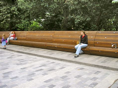 street benches design pavilion seat woodscape street furniture
