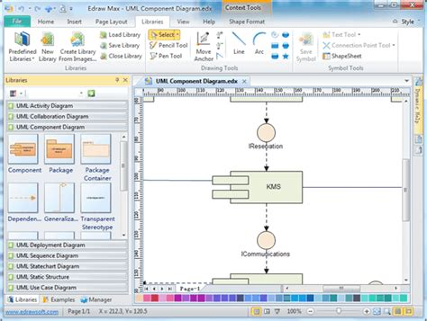 software to draw uml diagrams uml component diagrams free exles and software