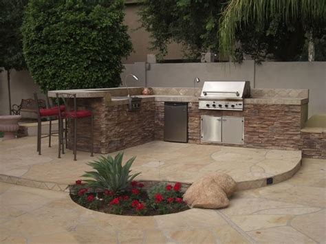 Backyard Landscaping Arizona by Backyard Bbq Area Design Ideas