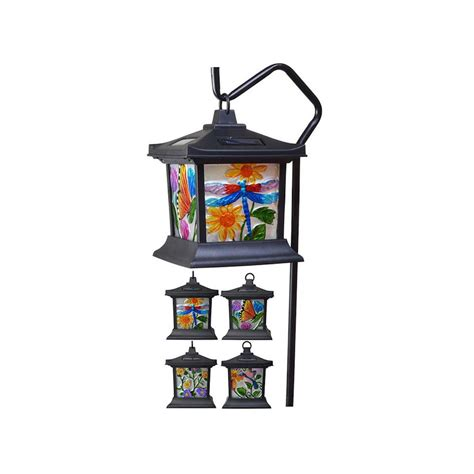 moonrays solar lights moonrays stained glass solar powered led outdoor floral