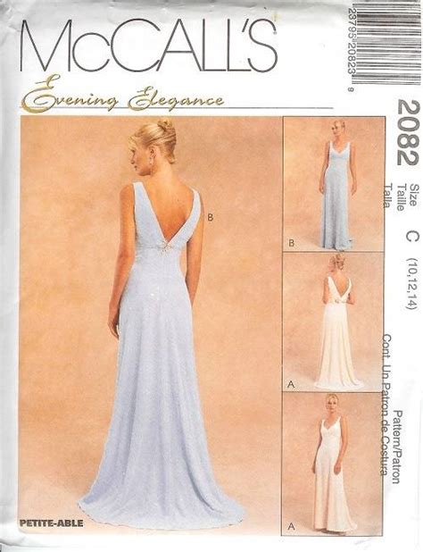sewing pattern evening dress mccalls sewing pattern misses bridal evening gown