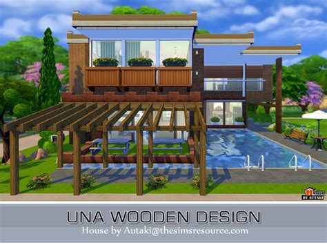 home design for sims 4 sims 4 una wooden design house