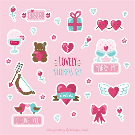 stickers poemas de amistad gratis set de pegatinas bonitas descargar vectores gratis